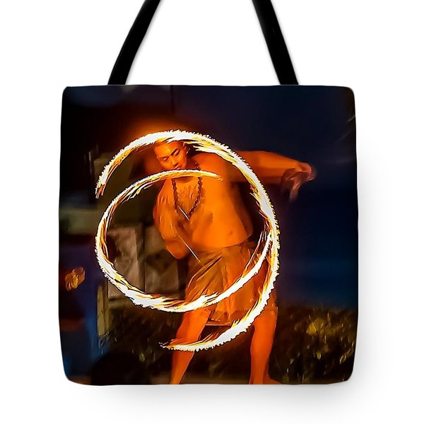 Fire Twirl Tote Bag