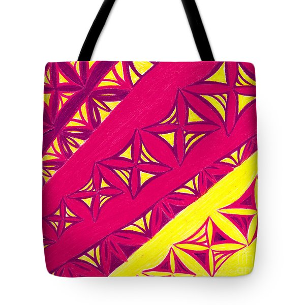 Tote Bag featuring the drawing Fire Velvet Lace by Kim Sy Ok