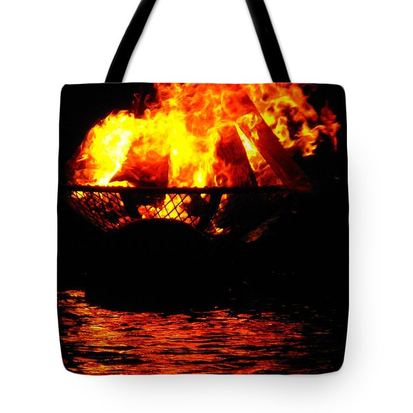 Fire Water Illuminates The Night Tote Bag