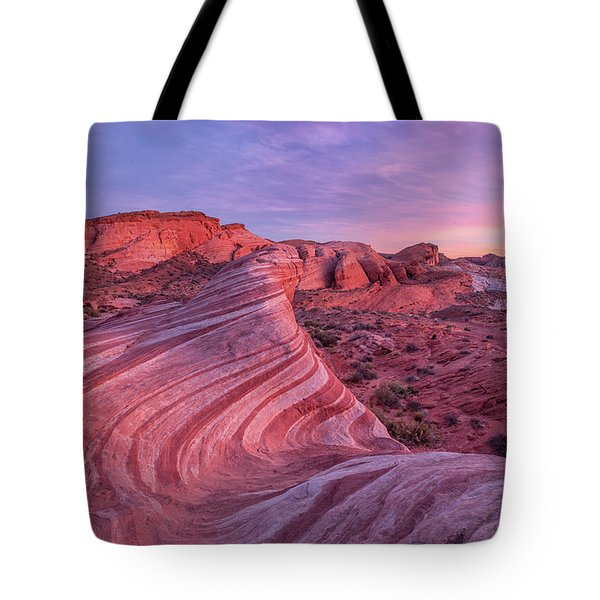 Tote Bag featuring the photograph Fire Wave Evening Light by Patricia Davidson