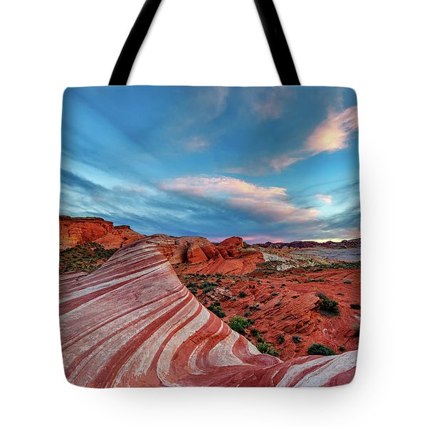 Fire Wave IIi Tote Bag
