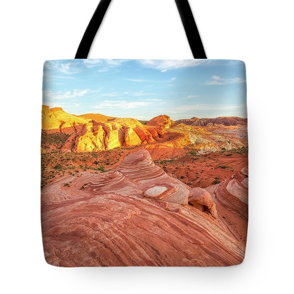 Fire Wave In Vertical Tote Bag