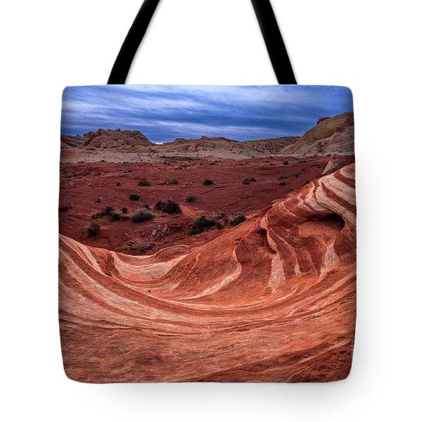 Fire Wave Twilight Tote Bag