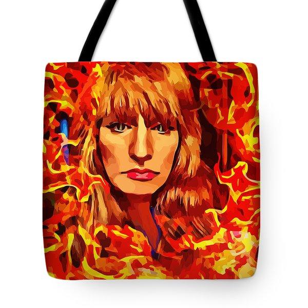 Fire Woman Abstract Fantasy Art Tote Bag