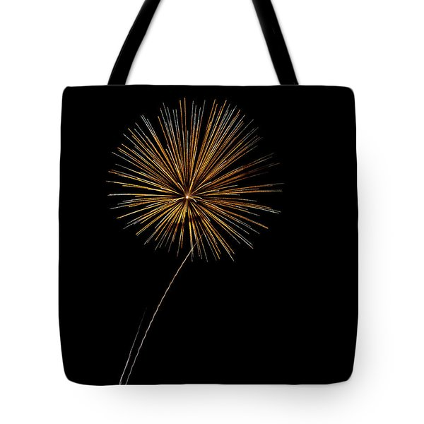 Fire Works Bursts Tote Bag by Gary Langley
