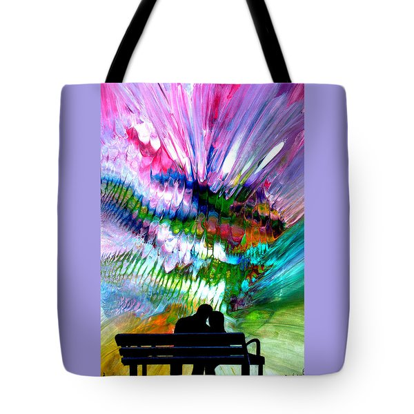 Fire Works In The Park Tote Bag