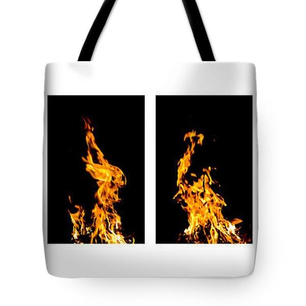 Fire X 6 Tote Bag by Tomasz Dziubinski