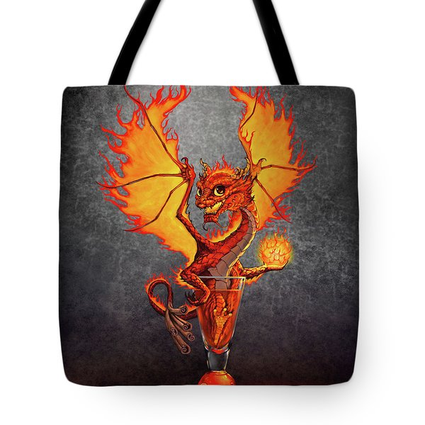Fireball Dragon Tote Bag