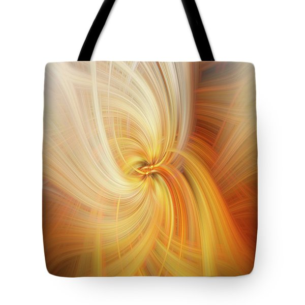 Tote Bag featuring the digital art Firefly by Elaine Teague