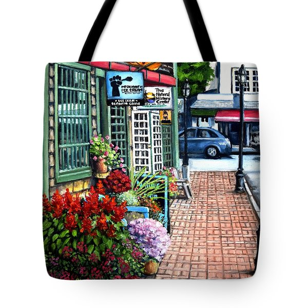 Firefly Lane Bar Harbor Maine Tote Bag