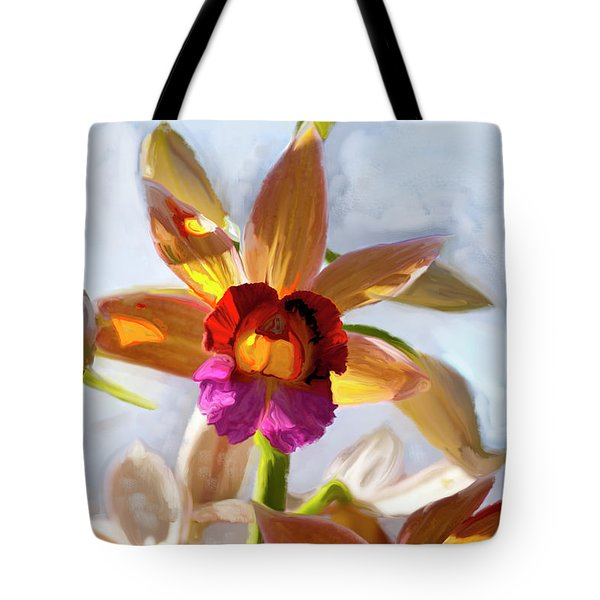 Firefox  Orchid Painting Tote Bag