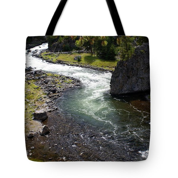 Firehole Bend Tote Bag by Marty Koch