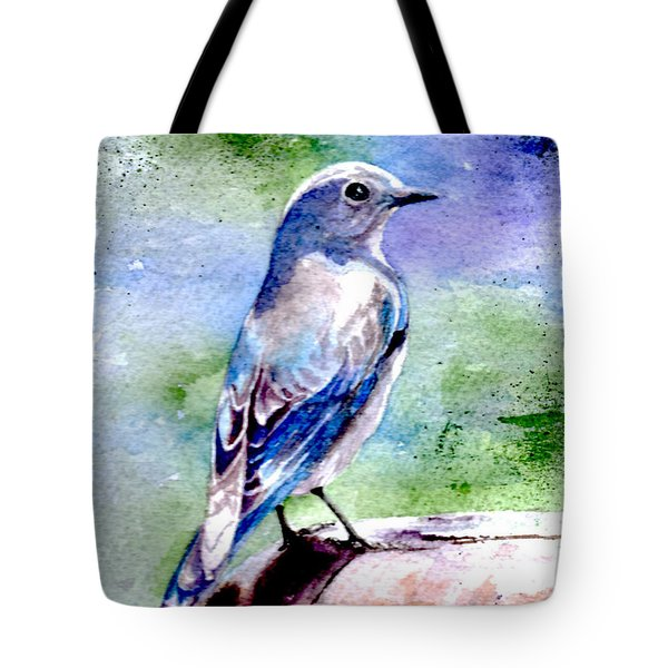 Firehole Bridge Bluebird - Female Tote Bag
