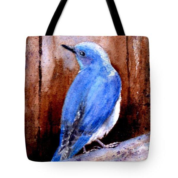 Firehole Bridge Bluebird - Male Tote Bag