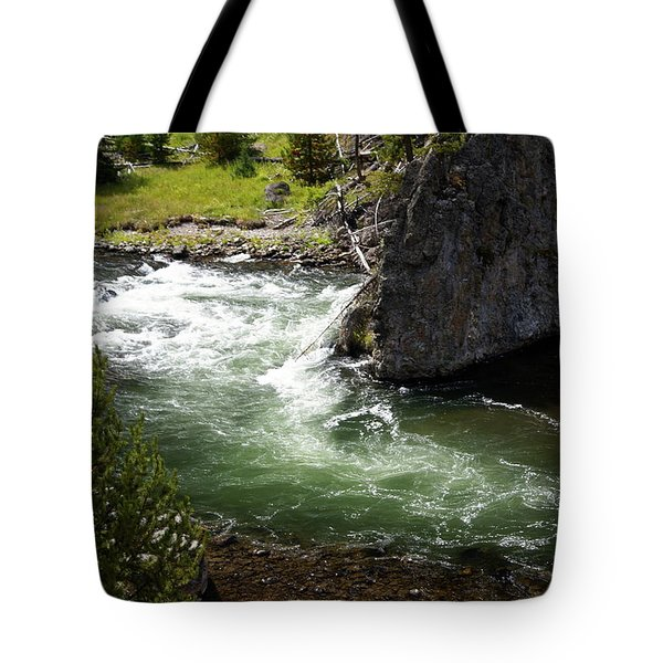 Firehole Canyon 1 Tote Bag by Marty Koch