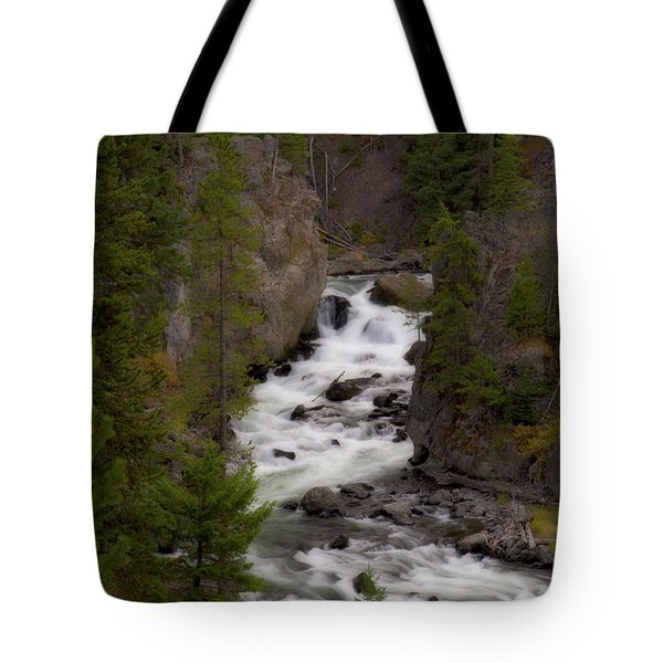 Tote Bag featuring the photograph Firehole Canyon by Steve Stuller