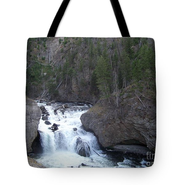 Tote Bag featuring the photograph Firehole Falls by Charles Robinson