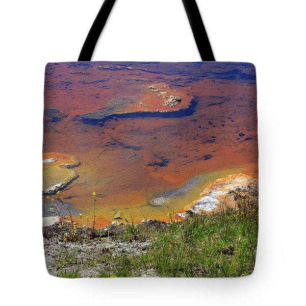 Firehole Lake Yellowstone National Park Tote Bag by Louise Heusinkveld