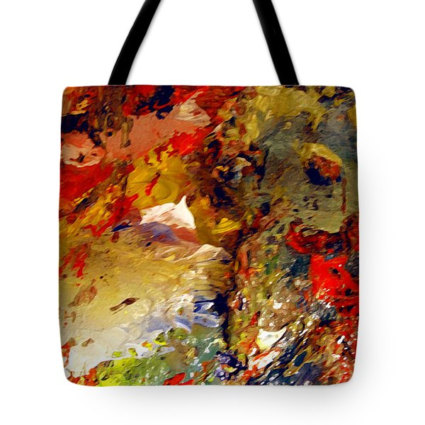 Tote Bag featuring the painting Firelanes by Charlie Spear
