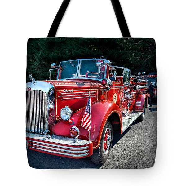 Fireman - 1949 And It Still Runs  Tote Bag by Mike Savad