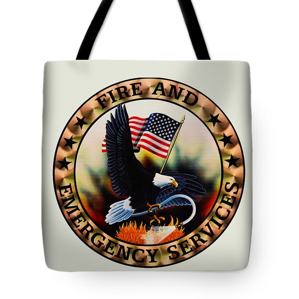 Fireman - Fire And Emergency Services Seal Tote Bag by Paul Ward