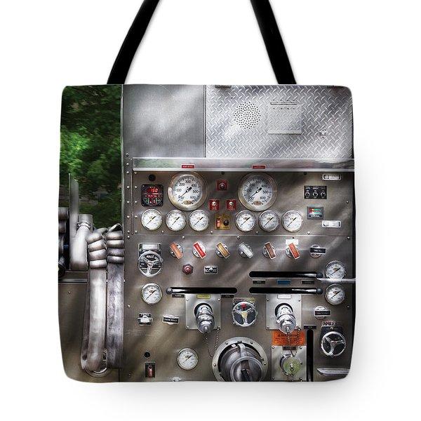 Fireman - Fireman's Controls Tote Bag by Mike Savad