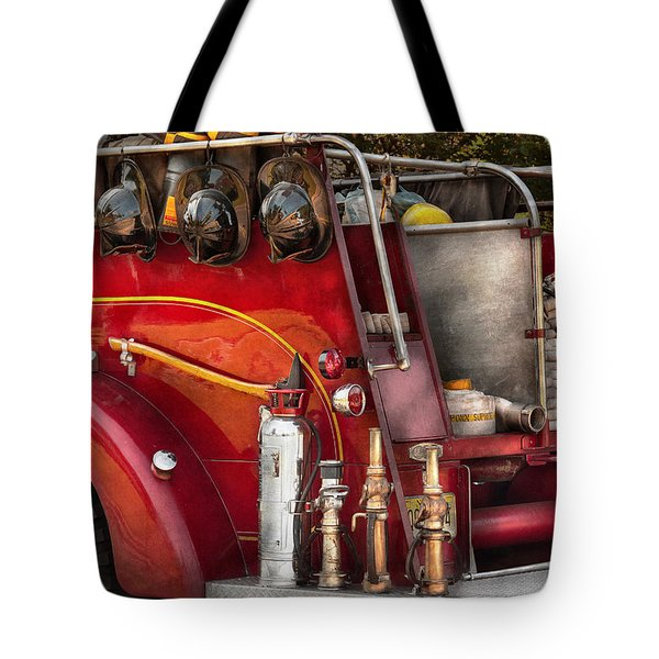 Fireman - Ready For A Fire Tote Bag by Mike Savad
