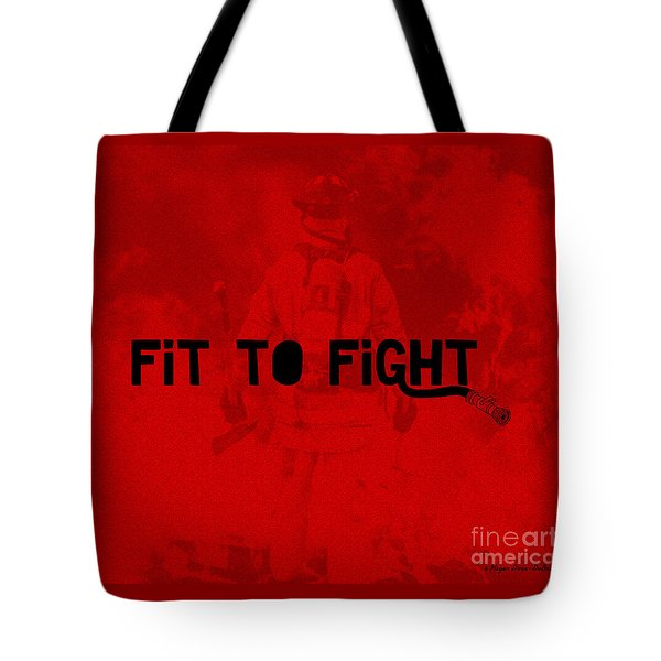 Fireman In Red Tote Bag by Megan Dirsa-DuBois