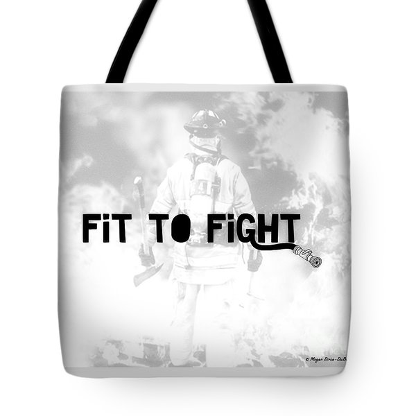 Fireman In White Tote Bag