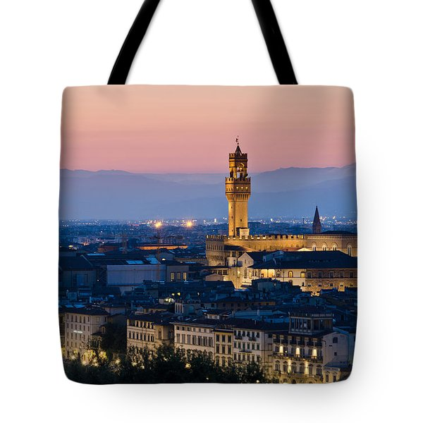 Firenze At Sunset Tote Bag