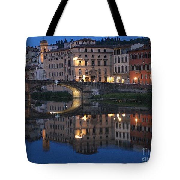 Firenze Blue I Tote Bag by Kelly Borsheim