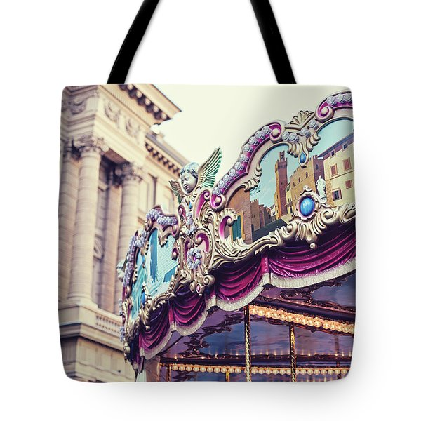 Tote Bag featuring the photograph Firenze Carousel by Melanie Alexandra Price