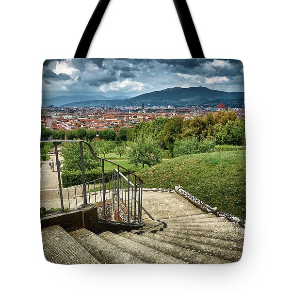 Firenze From The Boboli Gardens Tote Bag