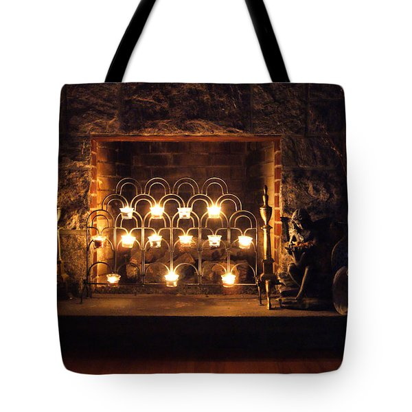 Fireplace Glow Tote Bag