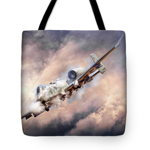 Firestorm Tote Bag by Peter Chilelli