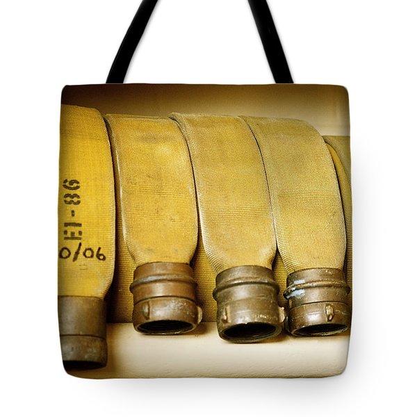 Firetruck Detail V Tote Bag by Kicka Witte - Printscapes