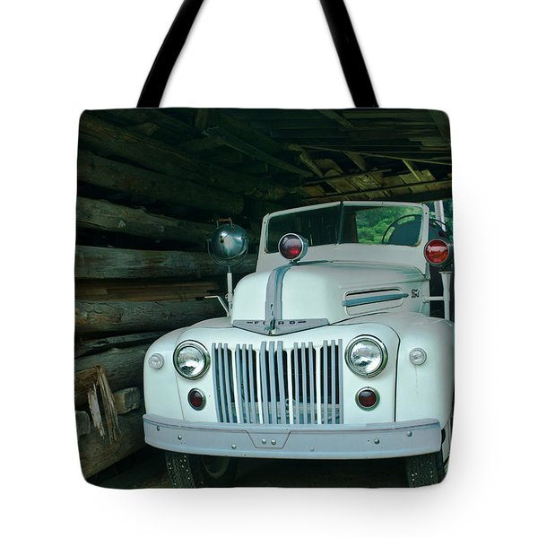 Firetruck In A Barn Tote Bag