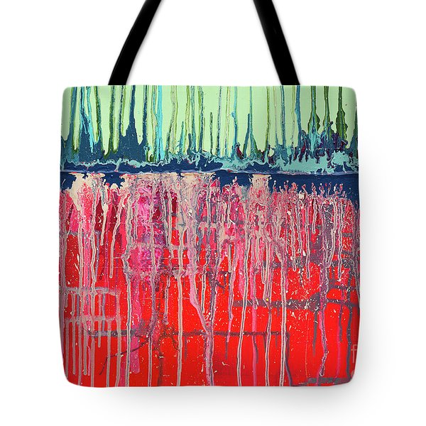 Tote Bag featuring the painting Firewalking by Annie Young Arts