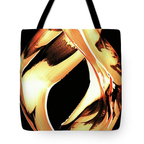Firewater 1 - Buy Orange Fire Art Prints Tote Bag by Sharon Cummings