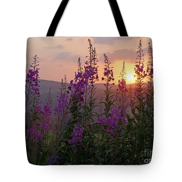 Fireweed Sunset Tote Bag