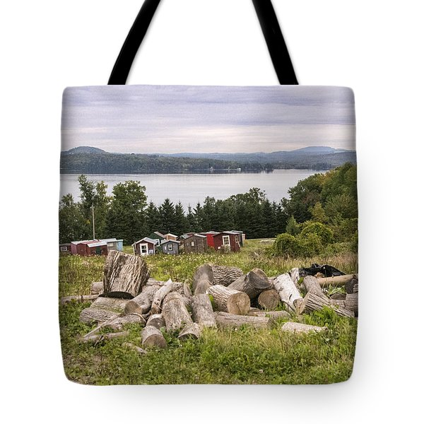 Firewood And Ice Houses Tote Bag