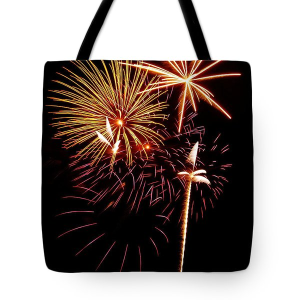 Fireworks 1 Tote Bag by Michael Peychich