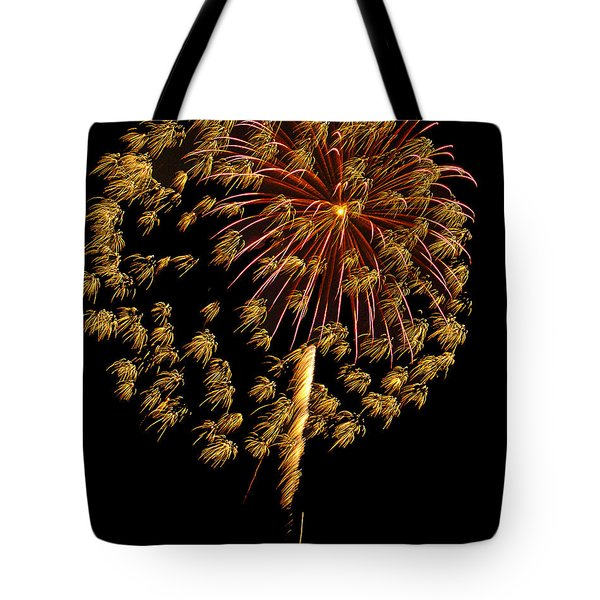 Tote Bag featuring the photograph Fireworks 10 by Bill Barber