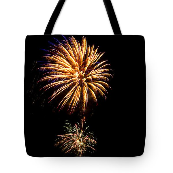 Tote Bag featuring the photograph Fireworks 4 by Bill Barber