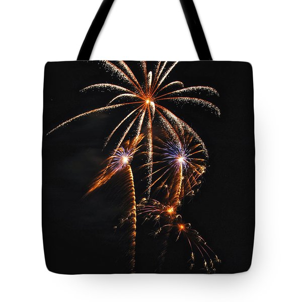 Fireworks 5 Tote Bag by Michael Peychich
