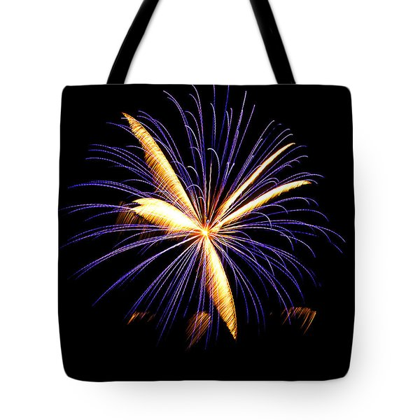Tote Bag featuring the photograph Fireworks 6 by Bill Barber