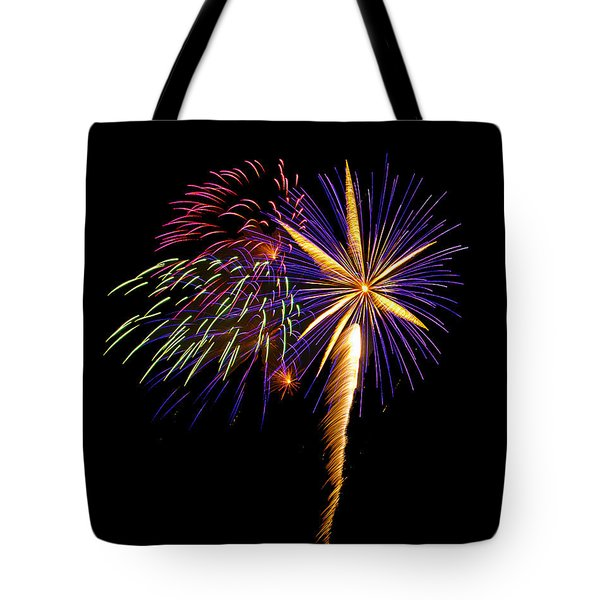 Tote Bag featuring the photograph Fireworks 8 by Bill Barber