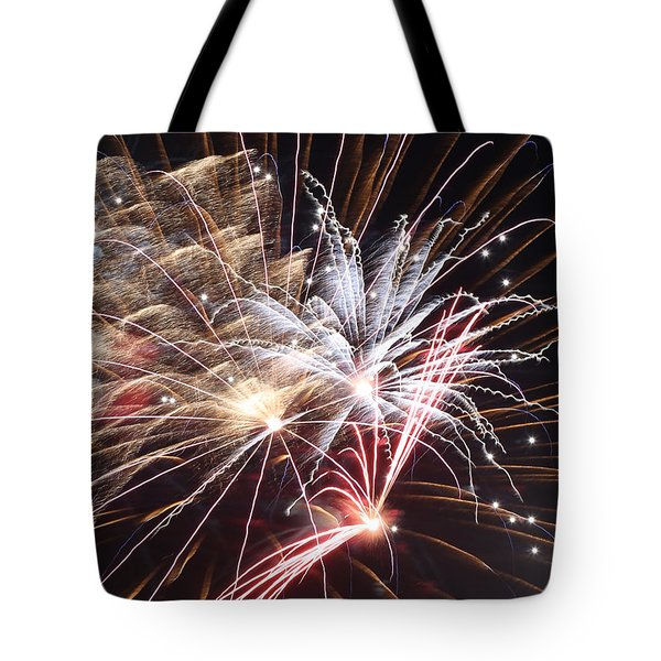 Fireworks Abstract 30 2015 Tote Bag