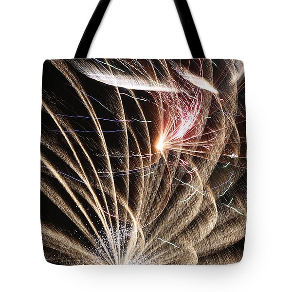 Fireworks Abstract 35 2015 Tote Bag