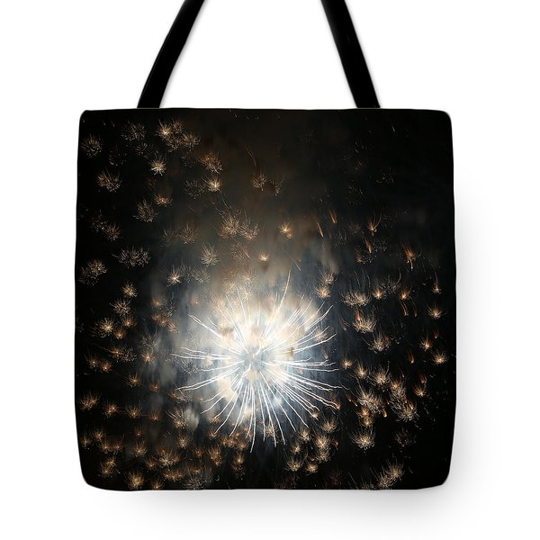 Fireworks Abstract 40 2015 Tote Bag by Mary Bedy